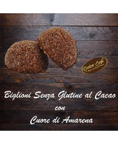 Biglioni al Cacao con Cuore di Amarene 120g