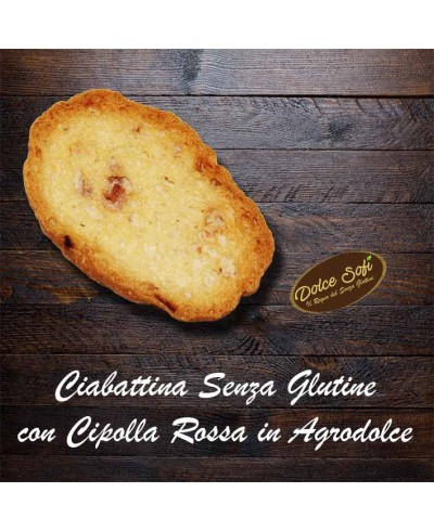 Ciabattine con cipolle rosse in agrodolce 160 g